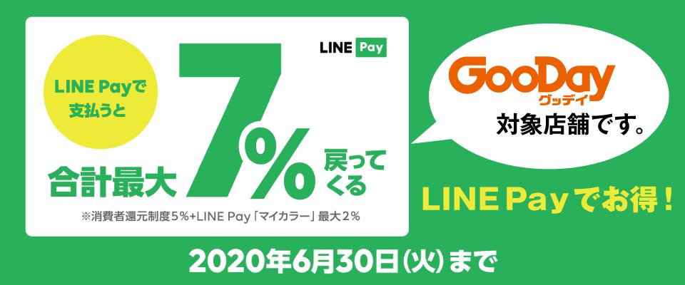 LINE Payでお得!『最大7%戻ってくる!』
