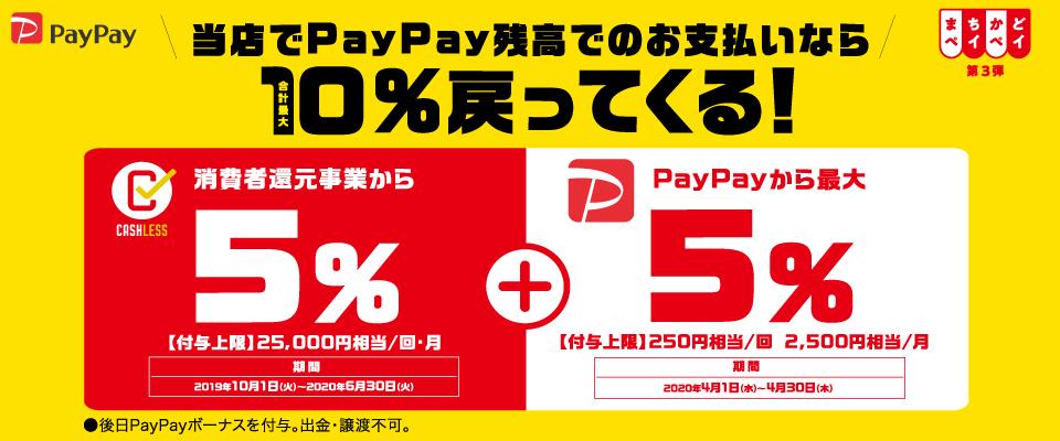 PayPay決済でお得!『まちかどPayPay第3弾』